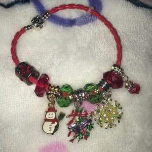 Charm Christmas Bracelet Pandora Faux Leather